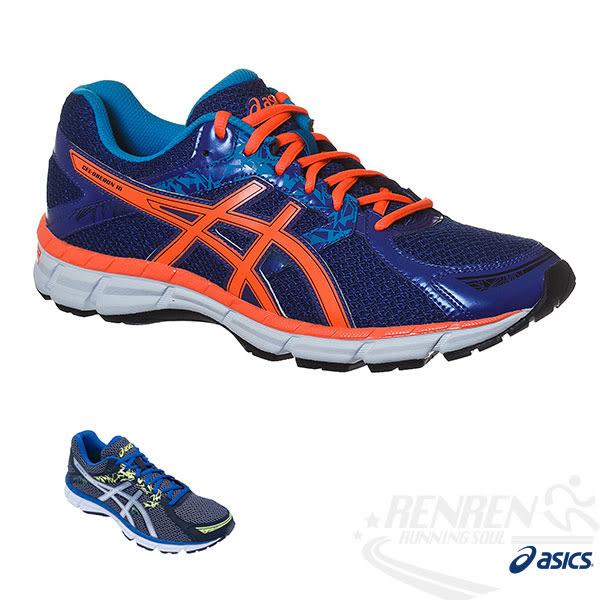 ASICS亞瑟士 GEL-OBERON 10 男健康慢跑鞋(藍*橘)