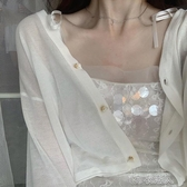防曬衣女短款夏季薄款超仙百搭冰絲針織上衣小披肩配裙子開衫外套 布衣潮人
