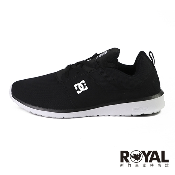 DC HEATHROW 黑色 透氣網布 休閒鞋 男款NO.W0202【新竹皇家 ADYS700071M63】