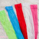 長統絲襪 膝上大腿襪 螢光綠藍桃紅白黑6色- 愛衣朵拉