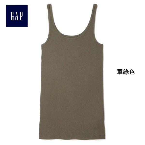 Gap女裝 舒適純色圓領背心 271930-軍綠色