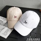 鴨舌帽帽子男韓版潮休閒百搭情侶棒球帽時尚刺繡字母個性遮陽帽女 科炫數位