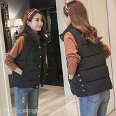 馬甲外套後惑冬天馬甲女冬季韓版學生加厚無袖短款馬甲學院風羽絨棉小馬甲 維科特3C