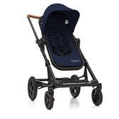 丹麥 Seed Papilio頂級嬰兒推車 (黑車架+藍座椅)