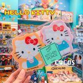 日本三麗鷗 凱蒂貓 KT 二入造型菜瓜布海綿 洗碗 廚房清潔 洗鍋刷 海綿刷 COCOS KK180