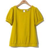單一優惠價[H2O]背後雪紡布綁帶設計百搭針織上衣-黃/藍/白色 #8671012