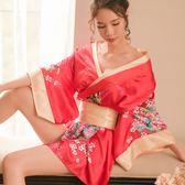 性感睡衣日本和服櫻花情趣內衣透視