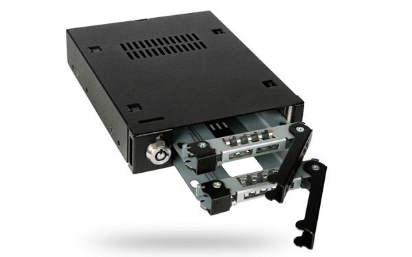 "ICY DOCK MB992SK-B 雙層式 2.5"" SATA SSD/HDD 轉一3.5"" 裝置空間 硬碟抽取盒"