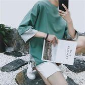 七分袖男t恤5分短袖韓版寬鬆個性潮流中長袖五分嘻哈7分袖上衣服 全館免運