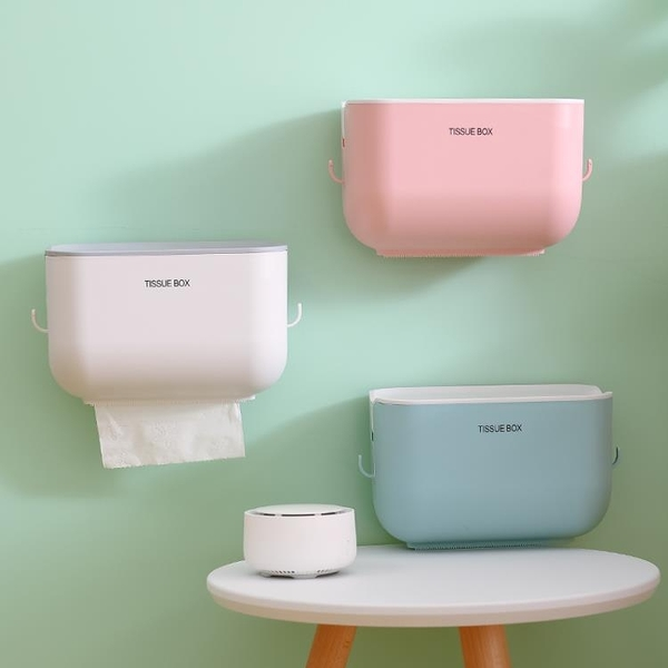 快速出貨 創意衛生紙盒衛生間紙巾廁紙置物架家用免打孔廁所防水抽紙捲紙筒【快速出貨】