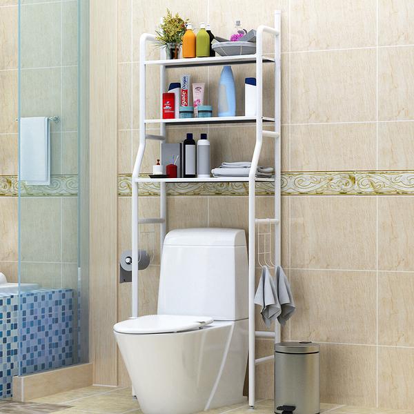 衛生間浴室廁所置物架落地洗手間免打孔洗衣機收納馬桶置物架角架 店慶降價