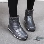 雪靴冬季簡約百搭時尚短靴保暖加絨防滑雪地靴棉鞋【邻家小鎮】