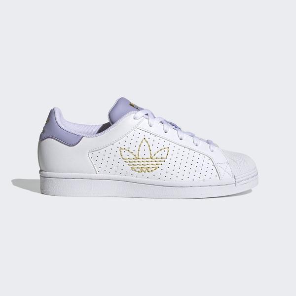 Adidas Superstar W [FX6043] 女鞋 運動 休閒 經典 舒適 皮革 穿搭 愛迪達 白 紫金