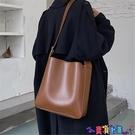 子母包 網紅質感學生側背包包女2021新款潮時尚大容量百搭斜背子母水桶包寶貝計畫 上新
