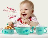 兒童餐具 寶寶注水保溫碗嬰幼套裝不銹鋼吃飯碗勺嬰兒輔食碗吸盤碗 俏女孩