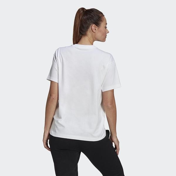 【現貨】Adidas VALENTINE V-DAY 女裝 短袖 T恤 休閒 情人節 丘比特箭頭 愛心 棉質 白【運動世界】GL0870