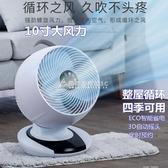 空氣循環扇家用臺式變頻電風扇超靜音智慧遙控搖頭定時渦輪對流扇 YXS