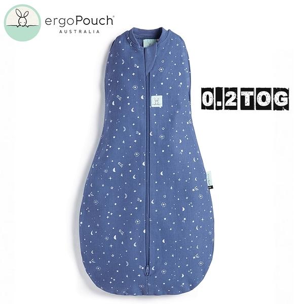 【愛吾兒】澳洲 ErgoPouch ergoCocoon 二合一舒眠包巾 0.2TOG(四季款)星空藍