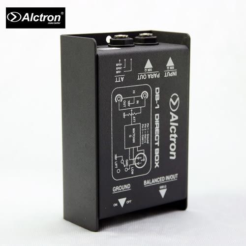 【敦煌樂器】ALCTRON DB-1 被動式單聲道DI BOX阻抗器