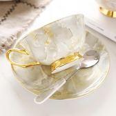 高檔描金骨瓷咖啡盃套裝英式紅茶盃歐式陶瓷咖啡盃碟下午茶送禮盒   LannaS