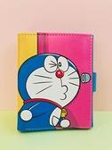 【震撼精品百貨】Doraemon_哆啦A夢~2折皮夾-黃粉