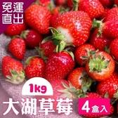 家購網嚴選 鮮豔欲滴大湖香水草莓1公斤/盒x4盒 (1號果)【免運直出】