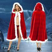 聖誕節披風 鬥篷KTV酒吧DS舞會派對聖誕女成人服裝金絲絨大披肩冬