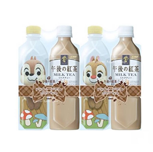 日本限定 午後の紅茶 限定版 奇奇蒂蒂 寶特瓶 玩偶娃娃 對偶套組