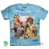 【摩達客】(預購)美國進口The Mountain 非洲草原動物哦耶 純棉環保短袖T恤(YTM104174987008)
