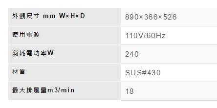 【歐雅系統家具】林內 Rinnai 電熱除油排油煙機 RH-9025A(90CM)