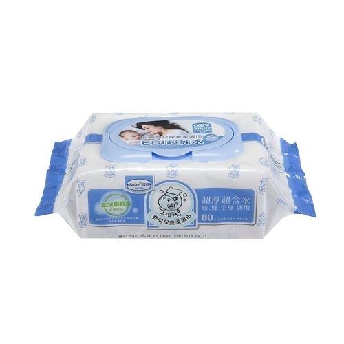 貝恩 BAAN 超純水嬰兒保養柔濕巾促銷包80抽(3入)(南六代工)[衛立兒生活館]