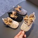 新鏤空透氣單鞋女童皮鞋針織兒童豆豆鞋軟底公主鞋寶寶鞋【淘嘟嘟】