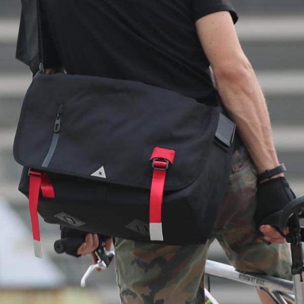 郵差包帆布死飛包超火斜挎包ins書包簡約單肩包休閒背包男士大包