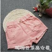 女童破洞牛仔短褲夏季兒童寬鬆韓版洋氣純棉小中大童外穿百搭快速出貨