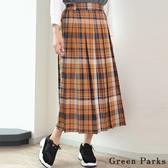 ❖ Autumn ❖ 配色大格紋百褶裙 - Green Parks
