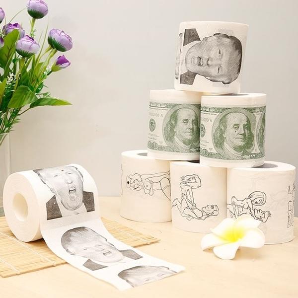 搞笑捲筒衛生紙 美金 鈔票 衛生紙 捲筒衛生紙 禮物 kuso 搞怪 創意
