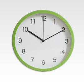 里和Riho 時鐘 25cm掛鐘 膠框靜音壁鐘-亮彩綠 【P250-GN】台灣製造,高品質機芯