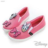 Disney 米妮 黛西 歡樂貼 ~ 亮蔥 平底 休閒鞋-桃