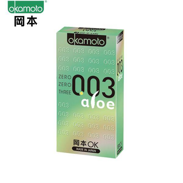 岡本003aloe極薄蘆薈保險套/衛生套6入裝