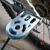 腳踏車後腳踏板折疊配件壹對腳蹬腳柱通用【橘社小鎮】