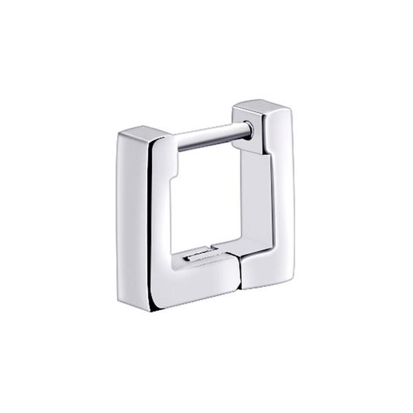 316L醫療鋼 正方形 平面素鋼 耳環耳圈扣-13mm、10mm 防抗過敏 單支販售