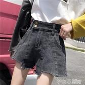 超火cec直筒牛仔短褲女2020夏寬鬆高腰顯瘦百搭泫雅熱褲闊腿ins潮 茱莉亞