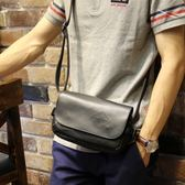 男士小胸包韓版休閒側背包潮夏季新款皮單肩包男騎行背包小挎包  薔薇時尚