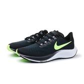 NIKE 慢跑鞋 ZOOM PEGASUS 37 飛馬 黑藍 螢光綠 透氣 休閒 運動 女 (布魯克林) BQ9647-001