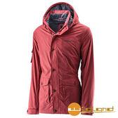 荒野 Wildland 男 絲絨防潑防風保暖外套 『紅』A22916