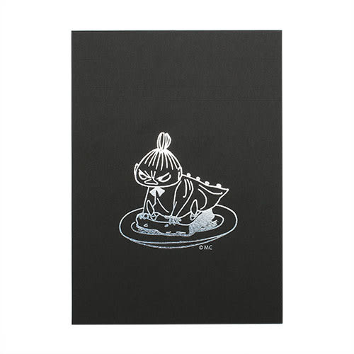 《Gakken》MOOMIN嚕嚕米質感燙金鑲飾A5方格便條本(小不點亞美)_GK13125