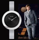 【僾瑪精品】Hugo Boss 簡約時尚晚宴圓形黑面女用腕錶-35mm/H1502037