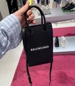 ■現貨在台■專櫃83折■ Balenciaga 全新真品 Phone Shopper 購物袋造型小牛皮肩背包 黑色