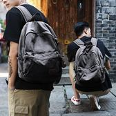 牧之逸雙肩包男士休閒帆布包背包時尚潮流學生書包男電腦包旅行包『潮流世家』