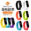 小米手環3專用菱格紋彩色透氣腕帶錶帶...